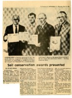 1974 soil conservation awards presented at Lee SCD annual dinner.