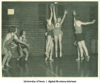Basketball game, The University of Iowa, 1940s