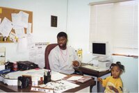 1999 - District Conservationist J.B. Martin and his<br />