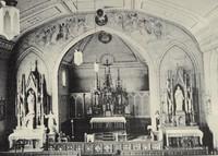 St. Joseph's Catholic Church in Garnavillo, Iowa -Interior 1936