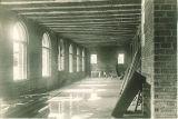 Construction inside the Art Building, The University of Iowa, 1935