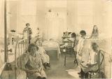 Girls' ward in Children's Hospital, The University of Iowa, 1920