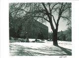 MacLean Hall west facade in winter, the University of Iowa, February 1959