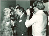 Mary Louise Smith during television interview, 1980s