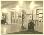 Art exhibit in the Iowa Memorial Union, the University of Iowa, 1950s?