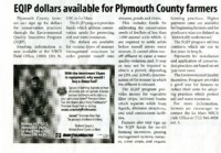 EQIP dollars available for Plymouth County Farmers