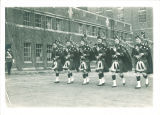 Scottish Highlander bagpipers, The University of Iowa, 1930s