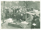 Cornerstone-laying ceremony for the Law Commons, the University of Iowa, 1934