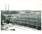 East view of Main Library construction, the University of Iowa, btw 1949 and 1951