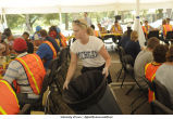 Flood cleanup workers' lunch, The University of Iowa, July 17, 2008