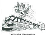 Dick Spencer cartoon sketch of Herky, mascot of The University of Iowa, 1940s