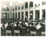 Frederick C. Ebbs conducting University of Iowa Symphony Band at Philharmonic Hall, Leningrad, 1966