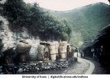 Baskets on roadside, China, 1944