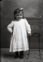 Girl with stool