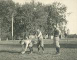 Football practice, 1893