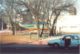 Helicopter parked south of Main Library, the University of Iowa, 1994