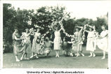 Women with floral garlands, The University of Iowa, 1910s?