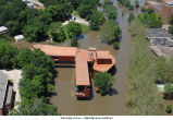 Aerial photographs of Art Building West flooding, The University of Iowa, June 16, 2008