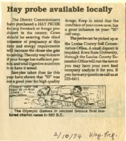 Hay probe available locally