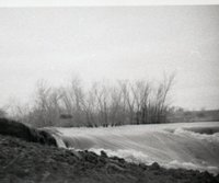 Rushing Flood Water Erodes Land