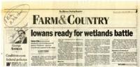 Iowans Ready for Wetlands Battle