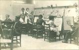 Art students drawing, The University of Iowa, 1910s
