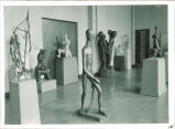 Gallery of sculptures, The University of Iowa, October 24, 1956