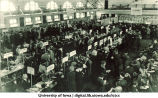 Students registration at Library Annex in Old Armory, The University of Iowa, 1910s