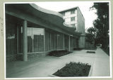 Clinton Street view of Burge Residence Hall, the University of Iowa, 1960s?