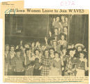 31 Iowa women leave to join WAVES