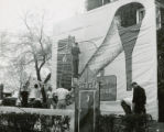Phi Delta Theta, lawn display, Homecoming, 1951