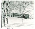 Hospital School for Handicapped Children in winter, the University of Iowa, circa 1955