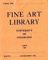 University of Colorado Fine Art Library Bookplate