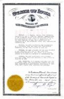 1944 Certificate of Understanding