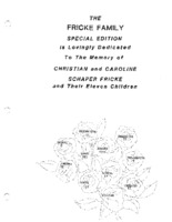 Fricke Family Genealogy, Volume II - cover page