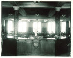 Library in MacBride Hall, the University of Iowa, 1940s?