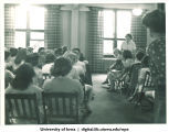 Classroom of students, The University of Iowa, 1940s