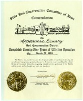 Certificate recognizing twenty-five years of effective operation, 1969