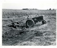 Tractor in Gully
