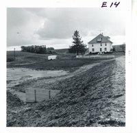 Erosion control dam on John Pfab farm, 1969
