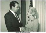 Mary Louise Smith with Sen. Charles Grassley, 1985