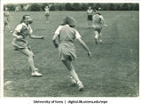 Softball team running drills, The University of Iowa, 1937