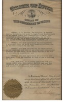 Iowa Secretary of State: Certificate of Formation - 1944.