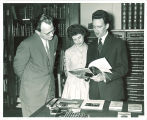 Presentation of books from Belgian Ministry of Public Instruction to University Libraries, The University of Iowa, May 27, 1960