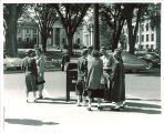 Street scene outside the Old Capitol, the University of Iowa, circa 1949
