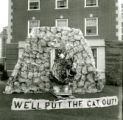 We'll Put the Cat Out homecoming lawn display, 1961