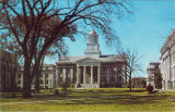 Old Capitol in center of Pentacrest, the University of Iowa, 1960s