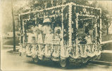 BPOE parade float, Marshalltown, Iowa, August, 1910