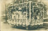 BPOE parade float, Marshalltown, Iowa, August, 1910