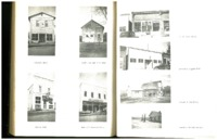 IOOF Hall, Town Hall and Fire Department, Harris Cafe, Rattray's General Store, Post Office, American Legion Hall, Untiedt and Son Dairy and Sandstoe Service Station